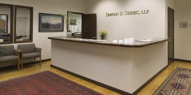 Dawson & Gerbic Reception Desk